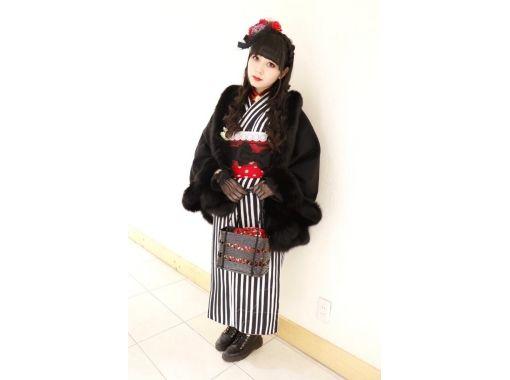 [Tokyo/ Harajuku] You can transform because you are in Harajuku! Gothic Kimono Plan Cool & Kawaii (30 seconds from Harajuku Station)の紹介画像
