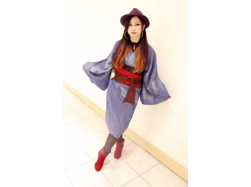 [Harajuku, Tokyo] Harajuku stroll in a casual denim kimono a! Denim kimono plan ♪ Introduction image