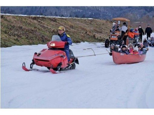 【岩手・花巻】冬だけしかできない雪上カヌーとソリで遊ぼう!雪の河原あそびプラン♪