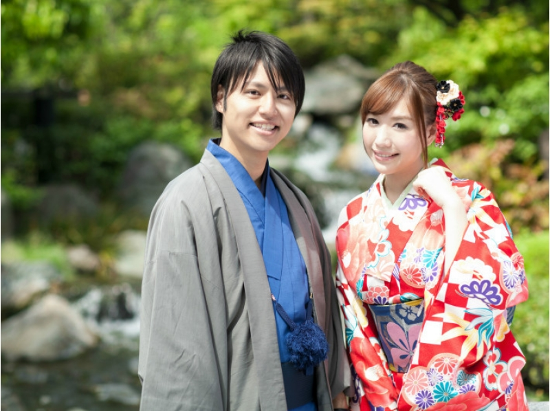 A 4-minute walk from [Kanagawa, kimono rental] Kamakura Station! Enjoy the kimono a couple, of trying to explore the ancient capital of Kamakura introduction image