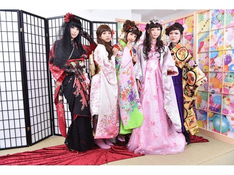 【Tokyo · Harajuku】 Harajuku Kawaii culture experience ♪ Transform shoot with an original kimono! ★ Photo data gift introduction image
