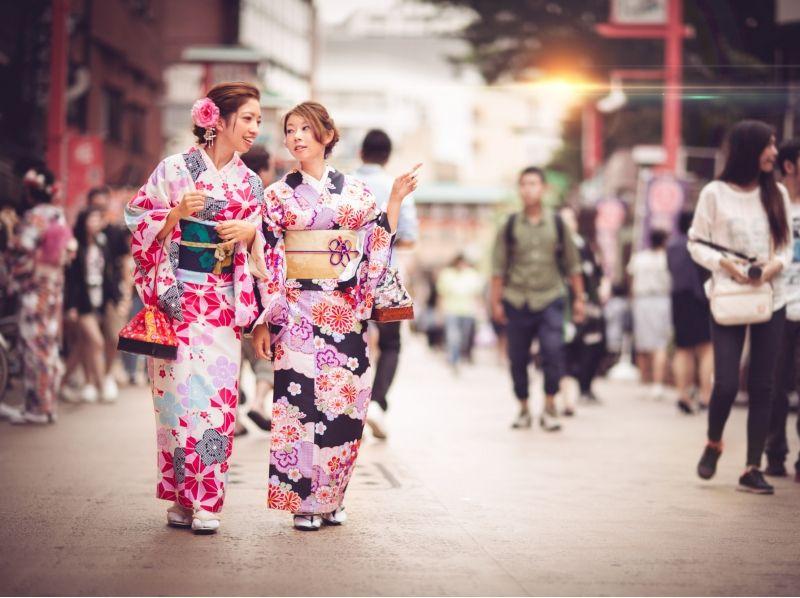 [淺草,東京]在和服淺草觀光出去! [和服租賃和修整計劃]介紹圖片