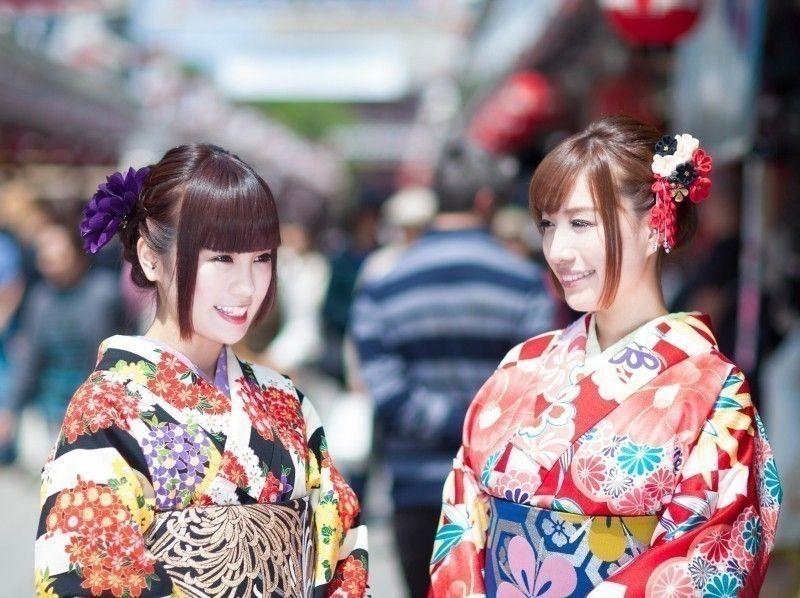 [淺草,東京] [有計劃和服租賃和敷料及午餐]介紹和服淺草旅遊與美味的午餐圖像