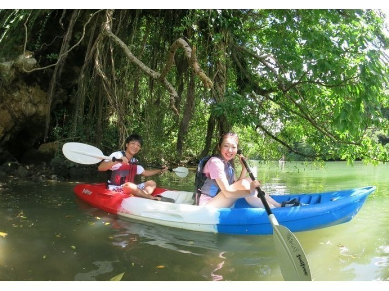 【Half day full enjoyment set course】 Introduction image of mangrove kayak & blue cave snorkel ☆ (required time about 4 hours)