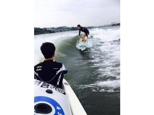 【福岡・海の中道】ボートサーフィン,ウェイクサーフィン 上質な波をひとりじめ!