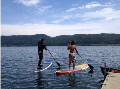 【長野・大町市 SUP】教室~静粛の青木湖でのんびりガイドと湖上散歩♪