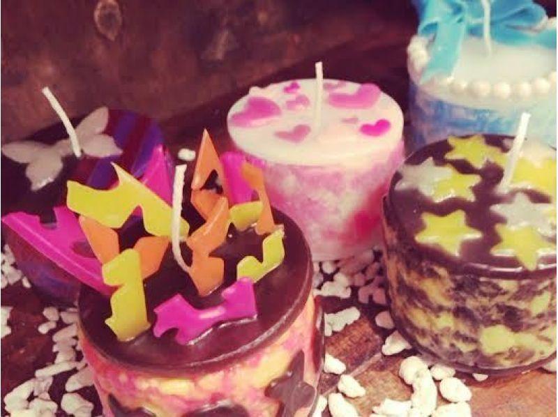 【徳島・住吉】火をつけるのがもったいない!?アイスケーキアートキャンドル作りの紹介画像