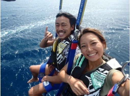 """""""HIS Super Summer Sale Now"""" [Popular No. 1 ◇ 4 years old-OK] Parasailing Regular Course: Rope Length 120m << Corona Countermeasure Plan >>の紹介画像"""