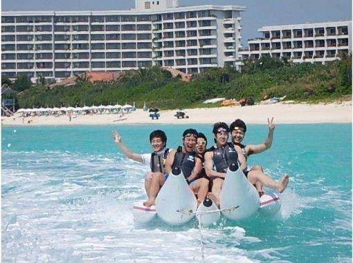 東洋一美しい前浜ビーチで絶叫!マリンスポーツ!2種類(バナナボート・ビックマーブル)団体割引有! 写真データサービス!