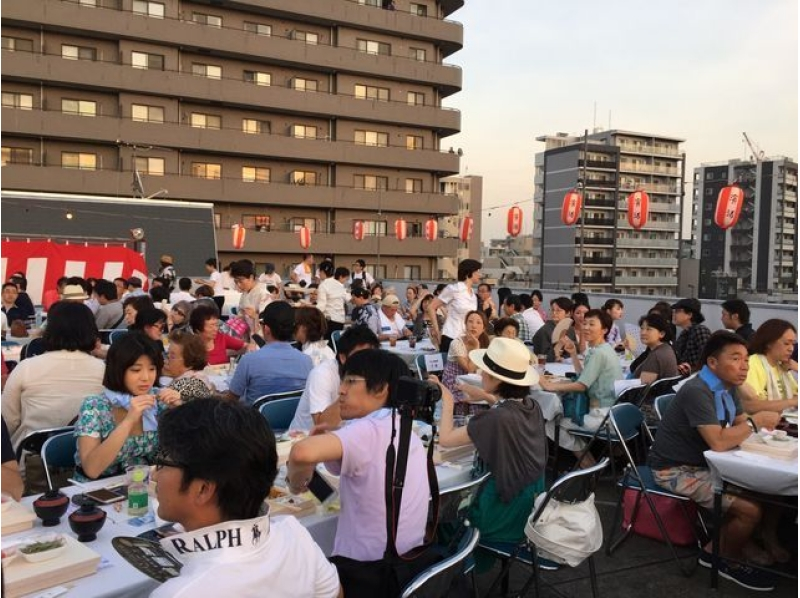 <Sumidagawa Fireworks Festival in 2017> Introduction image of Yudagashi-bashi / rooftop special viewing seating plan (with fireworks menu and drinks all-you-can-eat) 【9728】