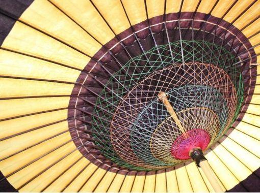 【大分・中津】ミニ和傘あんどん(卓上ランタン)づくり体験&中津の城下町散策(お食事付き)の紹介画像