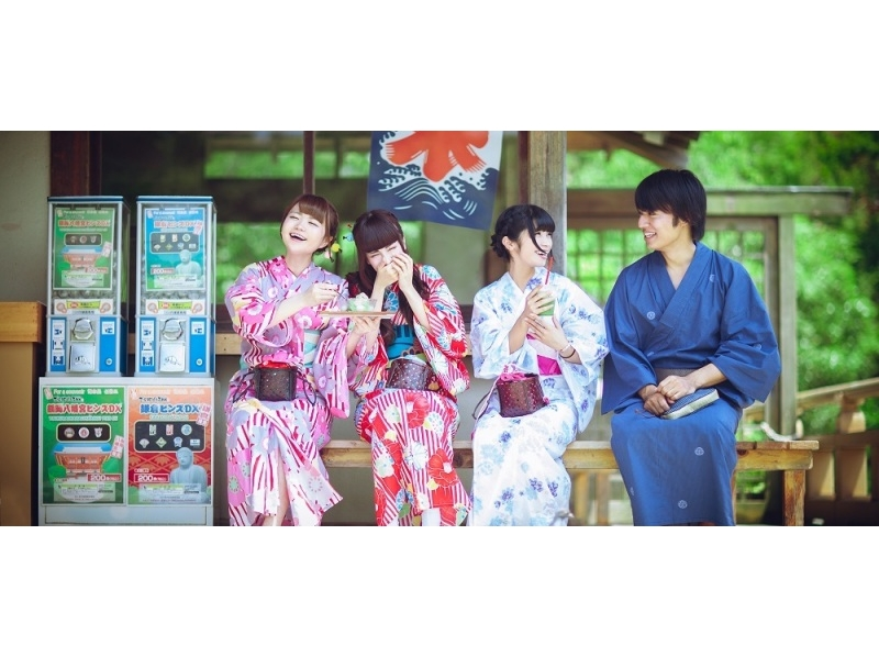 【Kanagawa · Yukata Rental】 4 minutes walk from Kamakura Station! Enjoy Yukata, Introduction image of walking through the ancient capital · Kamakura