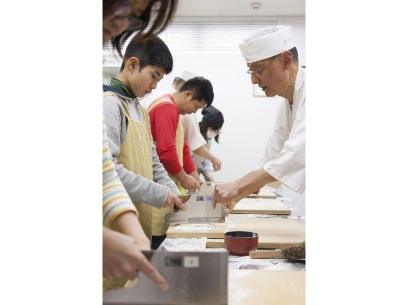 【京都・三条】国の現代の名工が教える本格そば打ち体験!月3回・日曜日開講〔1~4名様プラン〕の紹介画像