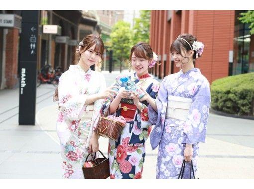 【東京・池袋】ヘアセット付き!雨の日は雨傘無料貸出、浴衣一式レンタル&着付けプラン!の紹介画像