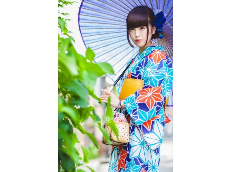 [Tokyo / 23 wards] Why do not you stroll around the city with Japanese style clothing? Introduction picture of rental dressing plan of Yukata which can be done in Ginza