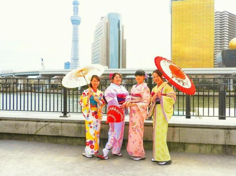 [Tokyo · Asakusa] Easy from Asakusa Station in 30 seconds! Introduction image of [1 day kimono rental Nakayoshi Plan / 2 to 4 people]