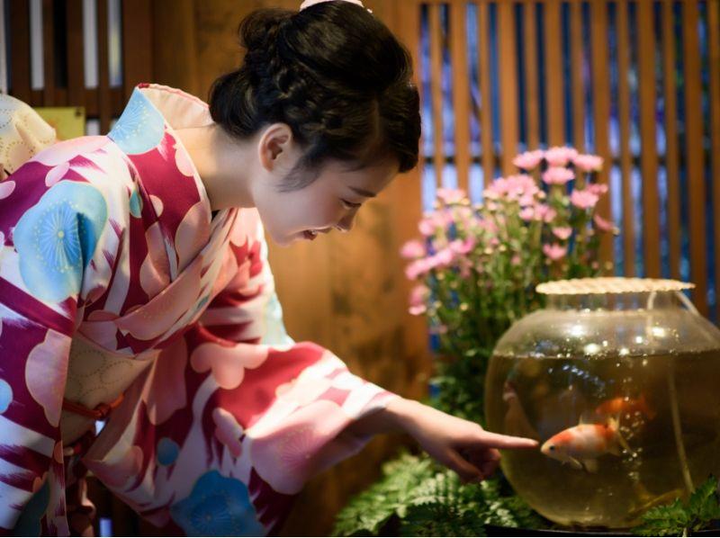【Tokyo · Asakusa】 Web limited discount ☆ Small article rental & hair set included ★ Yukata introduction image of kimono rental (premium course)