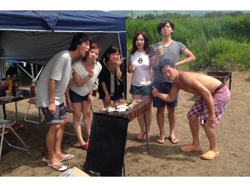【Yamanashi / Yamanakako】 Students must see! Introduction image of banana boat & BBQ party plan of 4 people ~