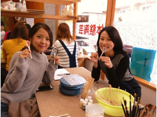 【静岡・熱海】温泉につかった後は楽しく陶芸体験!〔スプーン絵付けコース〕
