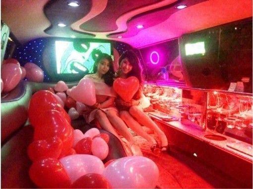 【東京・23区】日本最大級!11人乗りリムジンで豪華な女子会PLATINUMプラン!無料送迎付き