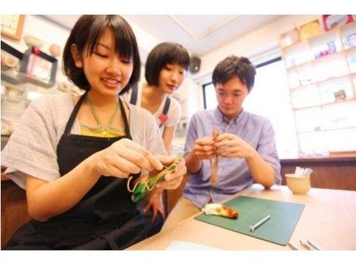 [大阪梅田]皮革工艺一日体验☆手工手镯和钥匙扣的体验♪の紹介画像