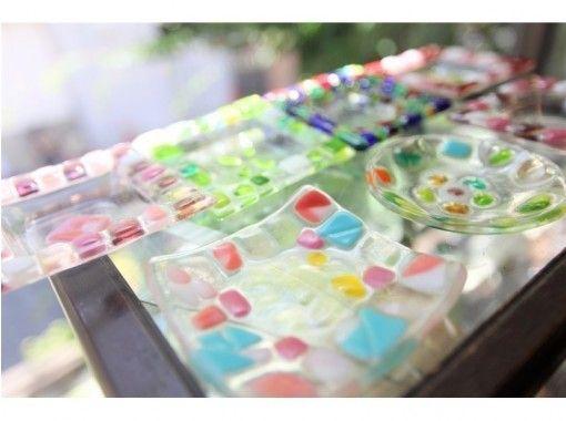 [大阪梅田] 熔制玻璃工藝一日體驗☆重要的業餘愛好時間☆閃光托盤的融合♪の紹介画像