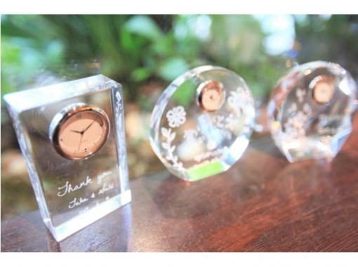 [Osaka Umeda] Glass clock gift course ☆ A gift with the feeling of giving an anniversary ♪の紹介画像