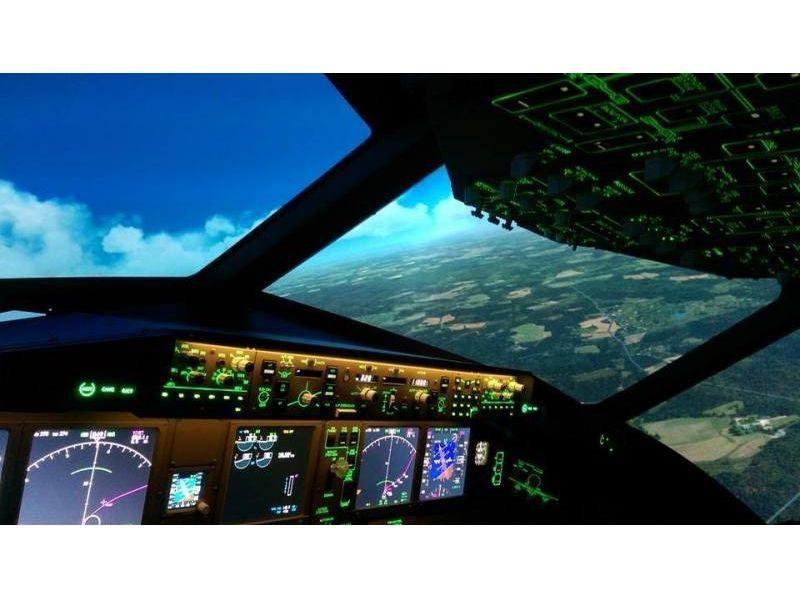 飛行機フライトシミュレーター 90分 ※6名様利用時お1人様5220円の紹介画像