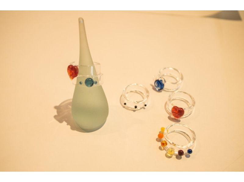【東京・吉祥寺】バーナーワークで耐熱ガラスの指輪作り♪当日持ち帰り可!(1時間)の紹介画像