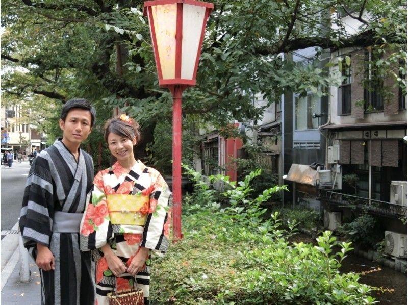 【京都・四条寺町・浴衣レンタル】カップルプラン(手ぶらでOK!)の紹介画像