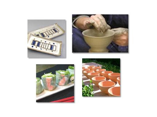 【兵庫・姫路】おそば屋さんの2階で陶芸体験「絵付け」体験プラン