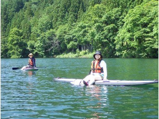 【長野・木崎湖】魅惑の浮遊感を楽しめる! SUPショートコース80分