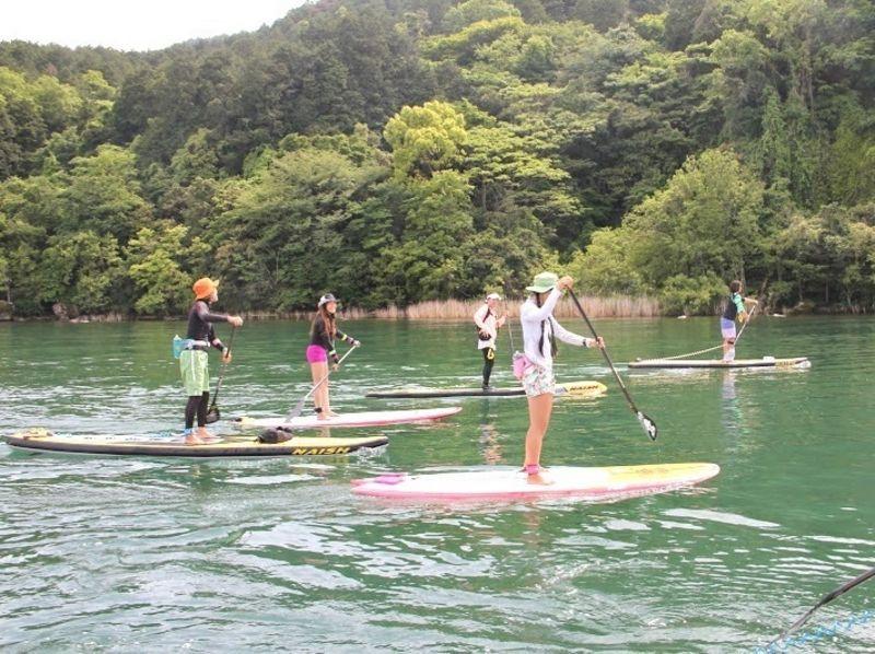 【滋賀・琵琶湖】SUP(サップ)半日体験スクール♪『びわ湖』で体験♪【初めての方、お一人様大歓迎!】の紹介画像