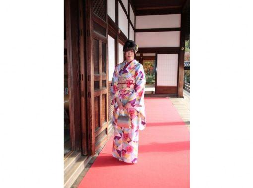 "京都四条和服租金超高价¥8,000! !! "" Furisode计划"" Furisode的出租和穿衣の紹介画像"