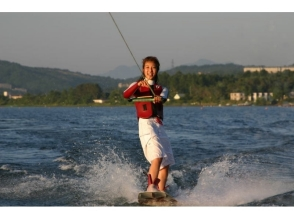 【山梨・山中湖】周りを気にせずウェイクボード!ボート&イ...