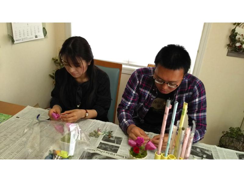 【宮城・大崎】プリザーブドフラワーでアレンジメント体験 ♪の紹介画像