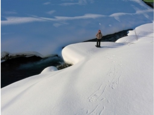 ◆GO TO 地域共通クーポン取扱店◆【北海道・富良野】「朝限定」のさんぽ道!アサの川のフシギスノーシュー体験