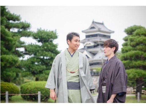 【長野・松本・メンズ着物・浴衣レンタル】フリーレンタルコース!松本城まで徒歩2分!