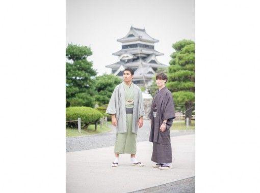 【長野・松本・メンズ着物・浴衣レンタル】3時間レンタルコース!松本城まで徒歩2分!