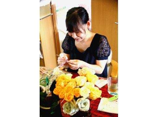 【山梨・甲府】早期予約で割引特典付き!ほのかに香る石けんを使用!花束のような人気の新感覚ソープフラワー作り