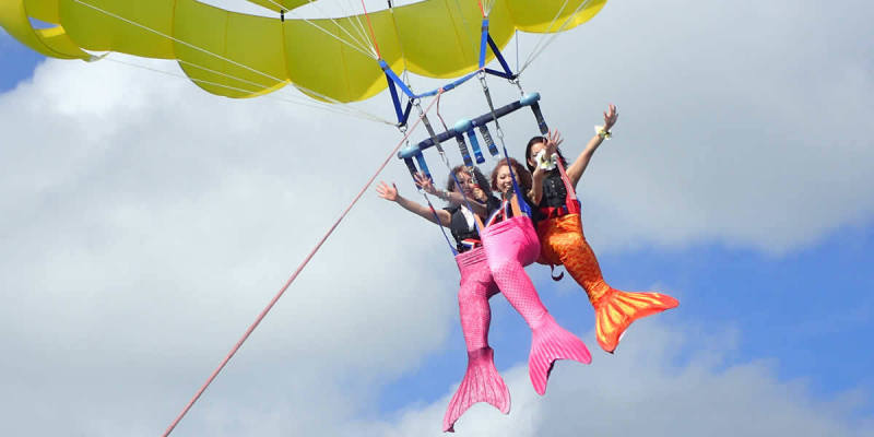 Mermaid experience experience parasailing