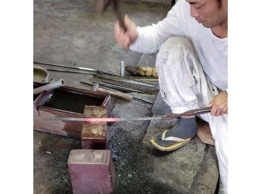 日本刀の材料で小刀作り体験