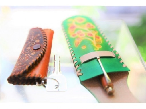 【名古屋荣】皮革工艺一日体验☆手工钥匙包、笔盒、旅行包♪の紹介画像