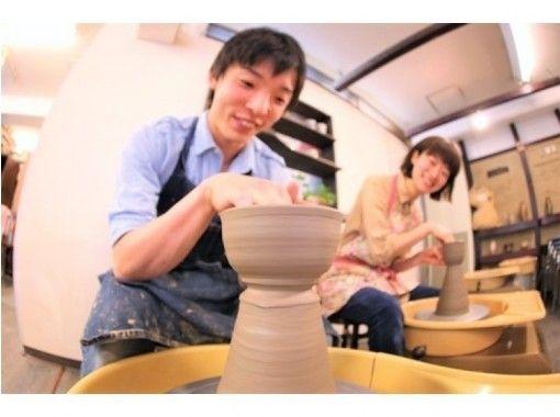【名古屋荣】电陶轮一日体验课程☆开始吧♪也能转动陶轮的陶艺快乐体验☆の紹介画像