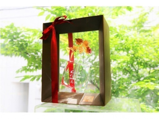[Tokyo Ginza] Glass vase gift course ☆ A gift with the feeling of giving an anniversary ♪の紹介画像