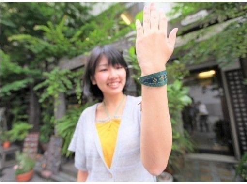 【東京銀座】レザークラフト一日体験☆バングル・キーホルダーを手作りするセンスup体験♪の紹介画像