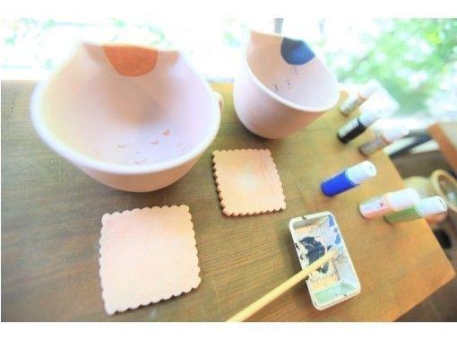 【福岡天神】クマさん・ネコさんマグカップの絵付け陶芸体験☆オリジナルマグで毎日を楽しく♪の紹介画像