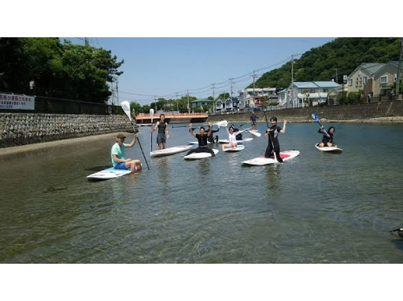 【Kanagawa · Zushi · SUP】 Even at first challenger OK! Introduction image of ♪ Let's take a walk on the sea at the trial school