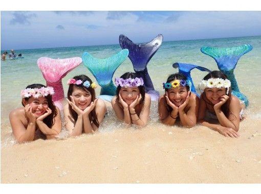 [沖繩恩納]從10歲OK的參與!美人魚游泳的經驗與藍色洞穴潛水經驗の紹介画像