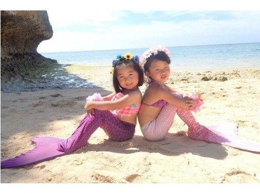 [沖繩恩納]從2歲OK的參與!美人魚游泳的經驗與藍色洞穴潛水の紹介画像